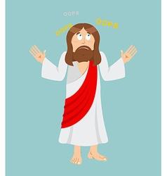 Jesus Christ Surprised Jesus Perplexed Jesus of vector