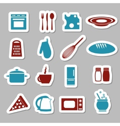 Kitchen stickers vector