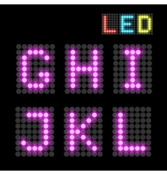 LED font vector image vector image
