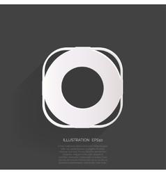 Lifebuoy web icon vector