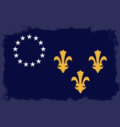 Louisville city flag vector