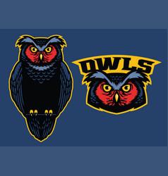 Owl mascot standing vector