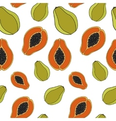 Papaya Seamless pattern vector image