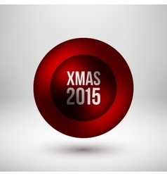 Red Xmas Bubble Badge vector image