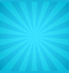 Retro blue rays light colorful sunburst and vector