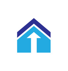 roof home arrow logo vector image