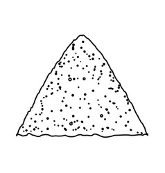Sand pile icon vector