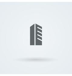 Schematic minimalist icon skyscraper high-rise vector image