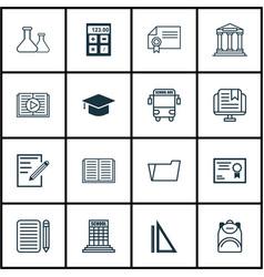 Set of 16 education icons includes measurement e vector