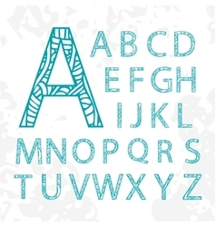 Set of doodle letters with abstract pattern on vector image
