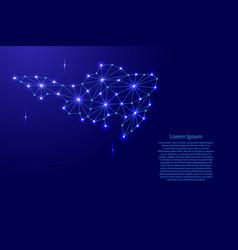 Sint maarten map of polygonal mosaic lines network vector