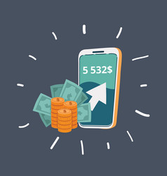 smartphone to make money vector image