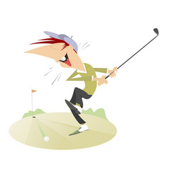 smiling golfer isolated vector image