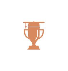 study trophy logo icon design vector image