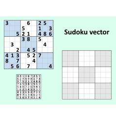 Symmetrical sudoku blank template vector