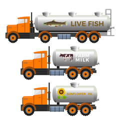 tank trucks set vector image