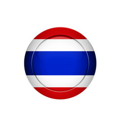 thai flag on the round button vector image