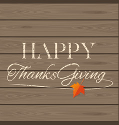 Thanksgiving lettering card vector