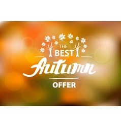The best autumn offer - hand drawn lettering vector image