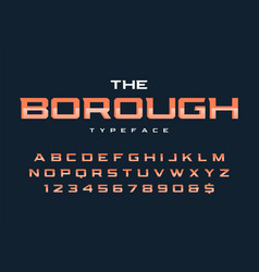 The borough trendy retro display font design vector