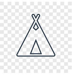 Tipi concept linear icon isolated on transparent vector