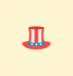 Uncle sam icon flat element vector