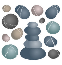 Various stones collection 2 vector
