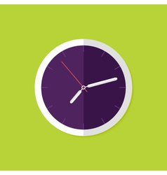 watch flat icon over green vector image