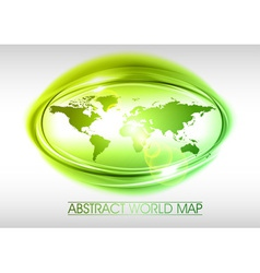 World abstract circle on white green vector
