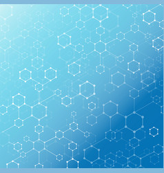 abstract technology geometric hexagon with dots vector image
