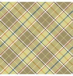 Beige tartan diagonal fabric texture seamless vector image