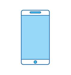 blue icon cellhphone cartoon vector image