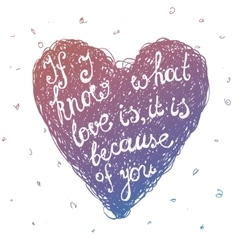 hand drawn love quote lettering in line vector image vector image