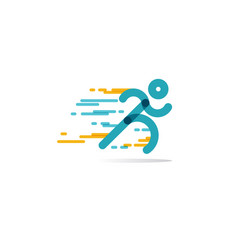 run icon running man in motion symbol of vector image