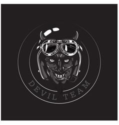 devil team devil helmet circle frame background ve vector image