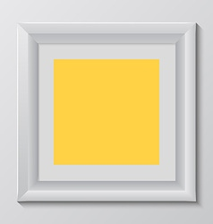empty colorful frame on wall vector image