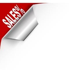 Paper banner vector
