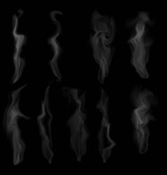 set of digital realistic smoke vector image