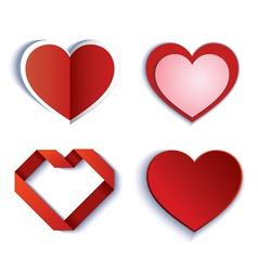 Set of symbol heart vector image