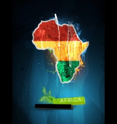 Africa poster vector image vector image