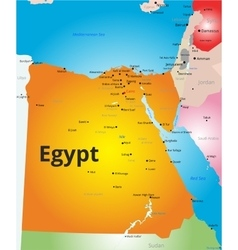 Color map of egypt vector