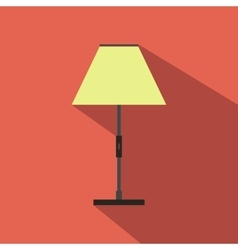 Floor lamp flat icon vector image vector image