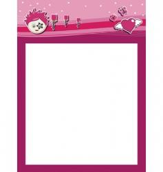 funky pink header vector image vector image