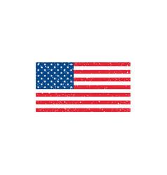 grunge usa flag on white background vector image