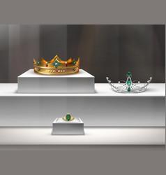 jewelry window display vector image vector image