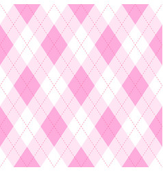 pink argyle seamless pattern backgrounddiamond vector image
