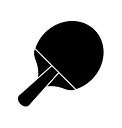 racket ping pong sport image pictogram vector image