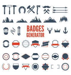 retro emblem generator is set of icons badges vector image
