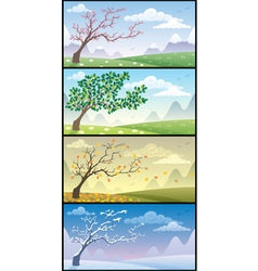 season landscapes vector image vector image