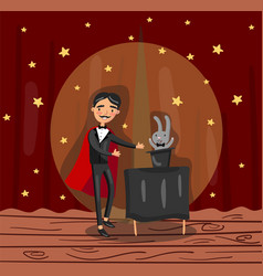 magician wizard character showing focus on theater vector image